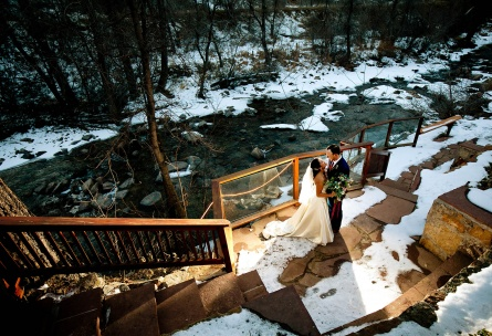 Winter Wedding Venue Wedgewood Weddings Boulder Creek Colorado