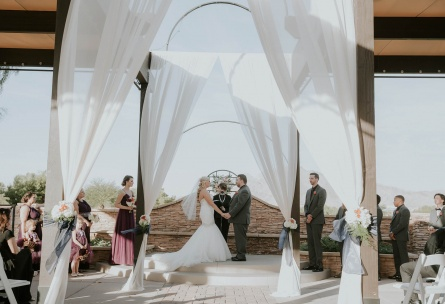 Outdoor ceremony site - Las Vegas - Las Vegas, Nevada - Clark County - Wedgewood Weddings