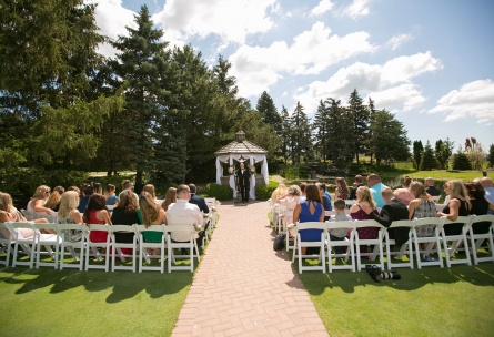 Garden wedding ceremony - North Shore - Wadsworth, Illinois - Lake County - Wedgewood Weddings