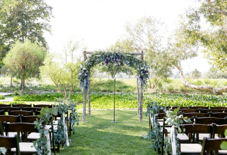 Outdoor wedding ceremony at Wedgewood Weddings Galway Downs – Southern California
