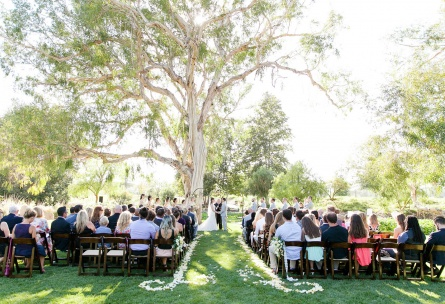 Rustic wedding ceremony - Wedgewood Weddings Galway Downs – Southern California