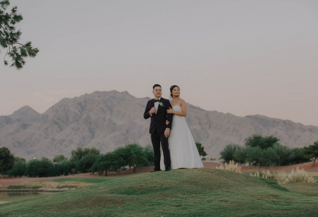 Bride and groom - Las Vegas - Las Vegas, Nevada - Clark County - Wedgewood Weddings