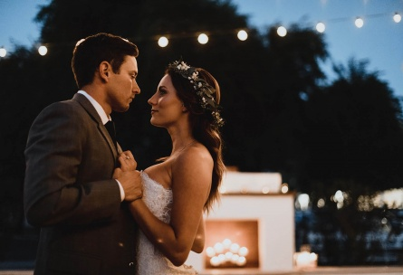Romantic bride and groom dancing outside - Lindsay Grove - Mesa, Arizona - Maricopa County - Wedgewood Weddings