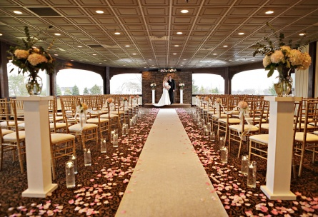 Crystal Room available for indoor wedding ceremonies - North Shore - Wadsworth, Illinois - Lake County - Wedgewood Weddings