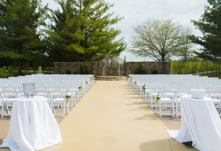 Wedding ceremony on the terrace - North Shore - Wadsworth, Illinois - Lake County - Wedgewood Weddings