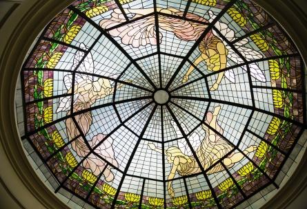 Stained glass rotunda - Sterling Hotel - Sacramento, California - Sacramento County - Wedgewood Weddings