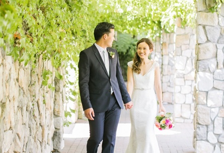 Bride and groom at rustic wedding venue - StoneTree - Novato, California - Marin County - Wedgewood Weddings