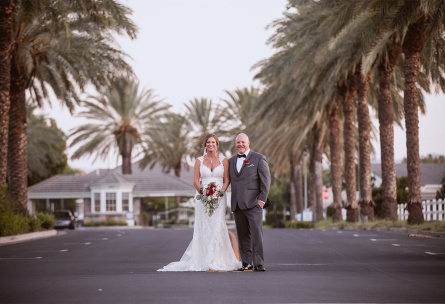Impressive Curb Appeal with Palm Tree Lined Entrance - Brentwood - Brentwood, California - Contra Costa County - Wedgewood Weddings