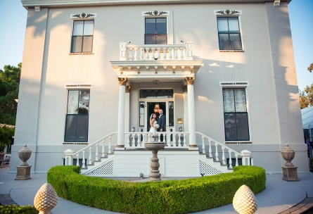 This historic estate is perfect for romantic photos of the newlyweds - Jefferson Street Mansion - Benicia, California - Solano County - Wedgewood Weddings