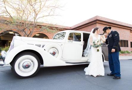 Vintage car - Sierra La Verne - La Verne, California - Claremont Area - Los Angeles County - Wedgewood Weddings