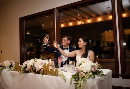 Wedding toast at Wedgewood Weddings Sterling Hills – Ventura County