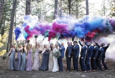 Smoke Bombs - Black Forest - Colorado Springs, Colorado - El Paso County - Wedgewood Weddings