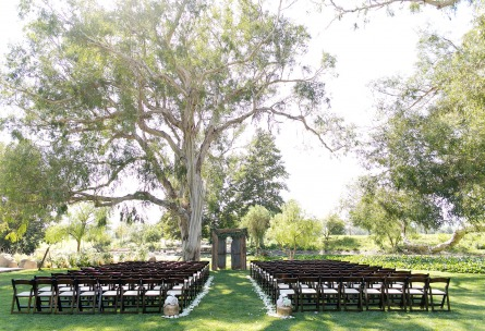 Rustic outdoor wedding ceremony at Wedgewood Weddings Galway Downs – Temecula, California