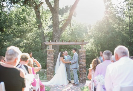 Outdoor wedding ceremony site  - Boulder Creek - Boulder, Colorado - Boulder County - Wedgewood Weddings