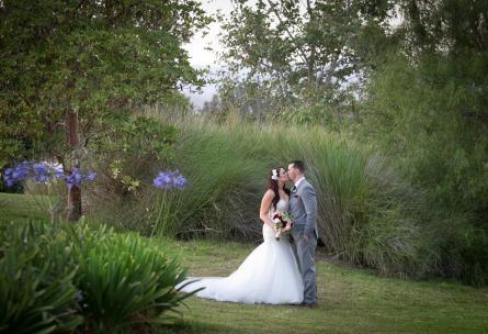 Sterling Hills - Camarillo, California - Ventura County - Bride & Groom - Lush Foliage - Wedgewood Weddings