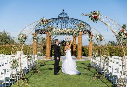 Outdoor Ceremony by the Arbor - Vellano - Chino Hills, California - San Bernardino County - Wedgewood Weddings