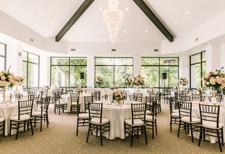 Bright banquet hall  University Club - Irvine, California - Orange County - Wedgewood Weddings