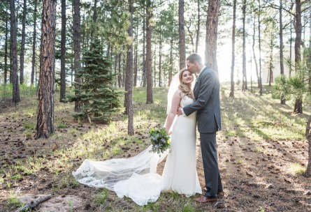 Couple Kissing in the Forest - Black Forest - Colorado Springs, Colorado - El Paso County - Wedgewood Weddings