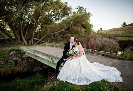 Bridge kisses  - Ken Caryl - Littleton, Colorado - Arapahoe County - Wedgewood Weddings