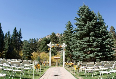 Outdoor Ceremony Site Mountain View Ranch - Pine, Colorado - Jefferson County - Wedgewood Weddings