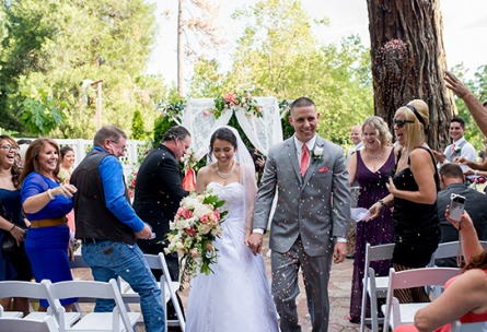 Ceremony exit - Sequoia Mansion - Placerville, California, El Dorado County - Wedgewood Weddings