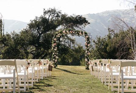 Outdoor wedding ceremony - Sierra La Verne - La Verne, California - Claremont Area - Los Angeles County - Wedgewood Weddings
