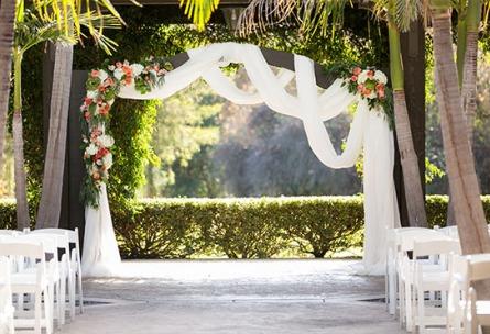 Decorative Ceremony Arbor - Fallbrook - Fallbrook, California - San Diego County - Wedgewood Weddings