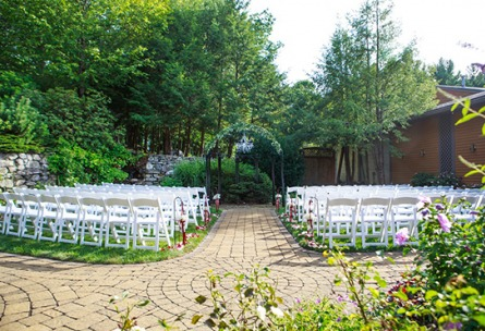 Lush outdoor ceremony - Granite Rose - Hampstead, New Hampshire - Rockingham County - Wedgewood Weddings