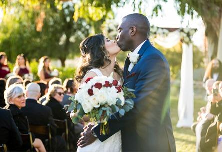 First kiss - Galway Downs - Temecula, California - Riverside County - Wedgewood Weddings