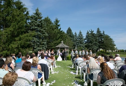 Lush outdoor ceremonies - North Shore - Wadsworth, Illinois - Lake County - Wedgewood Weddings