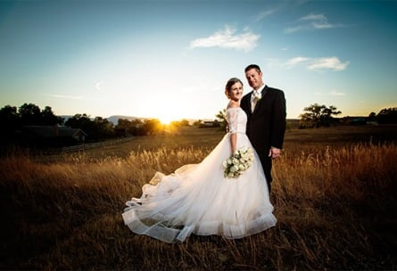 Happy Couple -  Tapestry House - Laporte, Colorado - Larmier County - Wedgewood Weddings