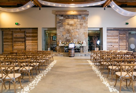 Warm indoor ceremony - Galway Downs - Temecula, California - Riverside County - Wedgewood Weddings