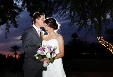 Kiss at Night  - Palm Valley - Goodyear, Arizona - Maricopa County - Wedgewood Weddings