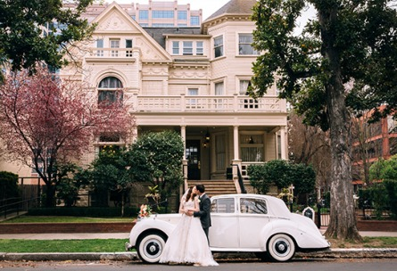 Cool ride - Sterling Hotel - Sacramento, California - Sacramento County - Wedgewood Weddings