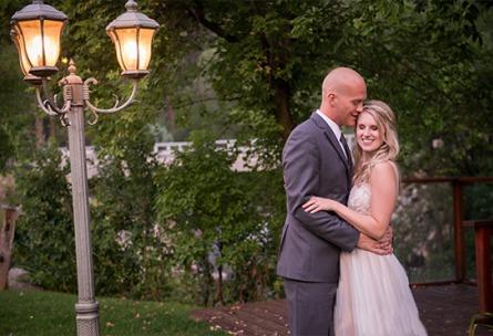 Lamp Post Couple  - Boulder Creek - Boulder, Colorado - Boulder County - Wedgewood Weddings