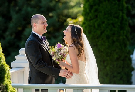 Laughing couple - Sequoia Mansion - Placerville, California, El Dorado County - Wedgewood Weddings
