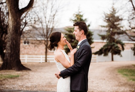 Happy Couple  Tapestry House - Laporte, Colorado - Larmier County - Wedgewood Weddings