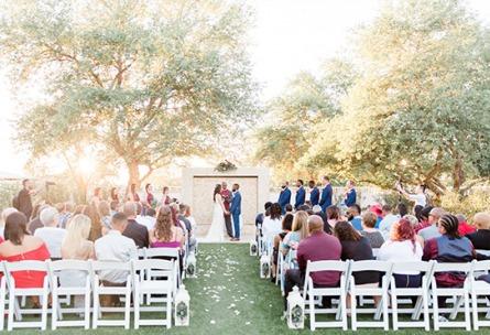 Sunlit ceremony - Lindsay Grove - Mesa, Arizona - Maricopa County - Wedgewood Weddings