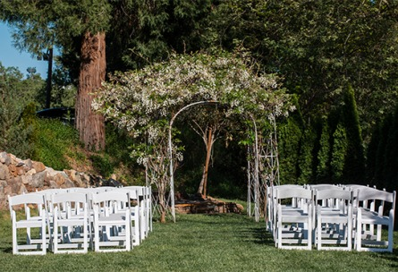 Outdoor ceremony site - Sequoia Mansion - Placerville, California, El Dorado County - Wedgewood Weddings
