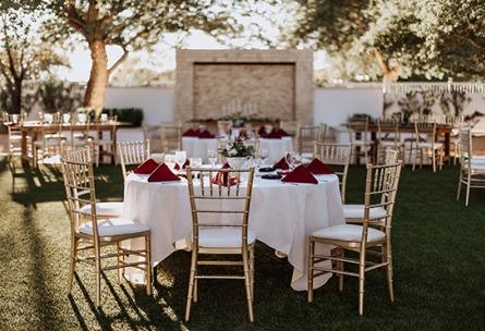 Outdoor reception - Lindsay Grove - Mesa, Arizona - Maricopa County - Wedgewood Weddings