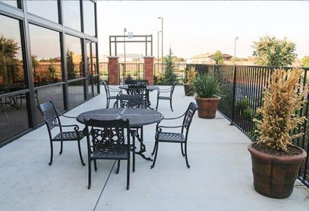 Outdoor patio set at Wedgewood Weddings Evergreen Springs.
