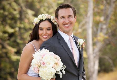 Sterling Hills - Camarillo, California - Ventura County - Bride and Groom - Flower Crown - Wedgewood Weddings