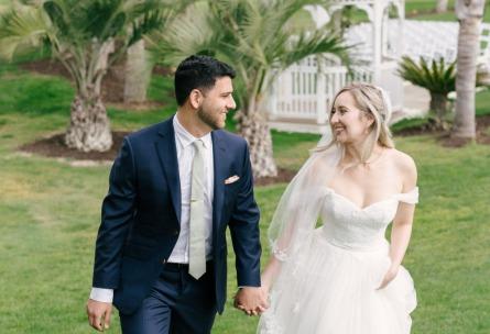 Sterling Hills - Camarillo, California - Ventura County - Bride and Groom Walking - Wedgewood Weddings