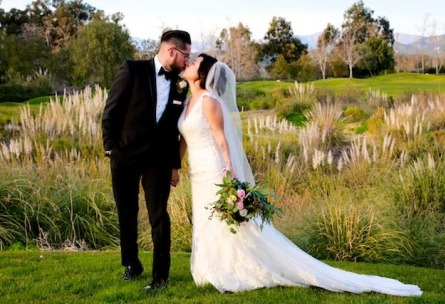 Couple Kissing in the Fields - Sterling Hills - Camarillo, California - Ventura County - Wedgewood Weddings