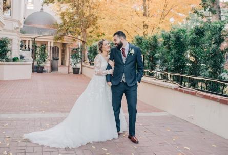 Happy newlyweds - Sterling Hotel - Sacramento, California - Sacramento County - Wedgewood Weddings