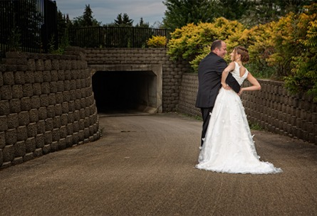Love by the tunnel - North Shore - Wadsworth, Illinois - Lake County - Wedgewood Weddings