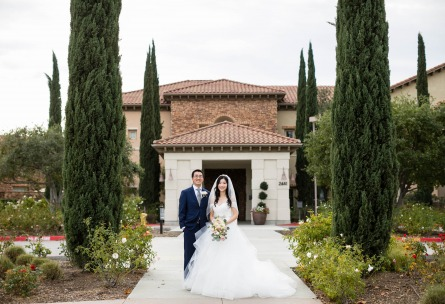 Happy bride and groom - Vellano - Chino Hills, California - San Bernardino County - Wedgewood Weddings