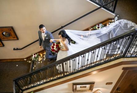 Grand staircase - Vellano - Chino Hills, California - San Bernardino County - Wedgewood Weddings