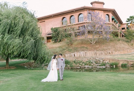 Strolling through the grounds - Sierra La Verne - La Verne, California - Claremont Area - Los Angeles County - Wedgewood Weddings