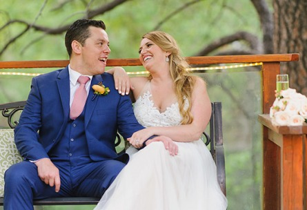 Bench Couple - Boulder Creek - Boulder, Colorado - Boulder County - Wedgewood Weddings